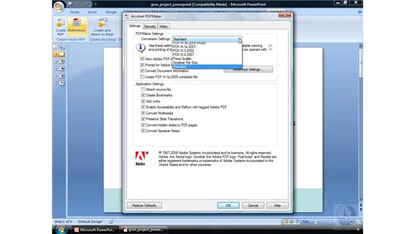 Creating a PDF from PowerPoint: Acrobat 9 Pro Essential Training