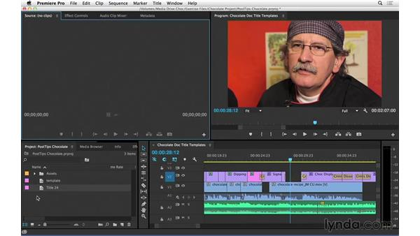 Creating title templates in Premiere Pro: Video Post Tips Weekly