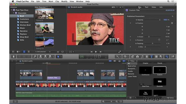Creating title templates in Final Cut Pro X: Video Post Tips Weekly