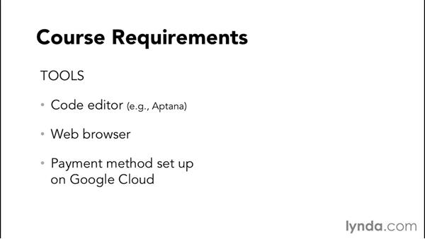 Course requirements: Google Cloud Storage and Data Essential Training