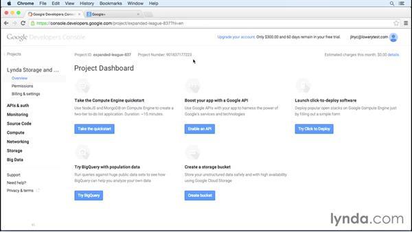 Getting underway: Google Cloud Storage and Data Essential Training