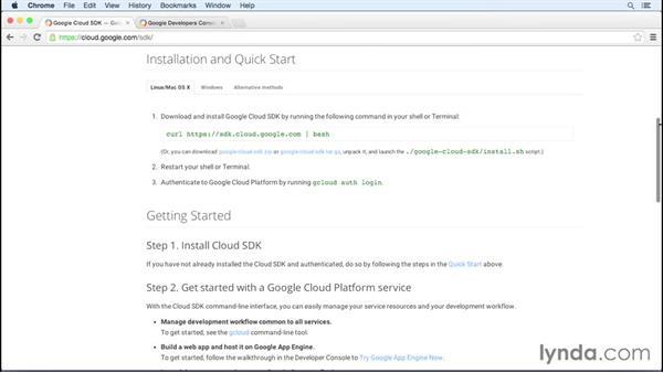 Installing the Google Cloud SDK on Mac: Google Cloud Storage and Data Essential Training