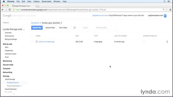 Working with buckets: Google Cloud Storage and Data Essential Training