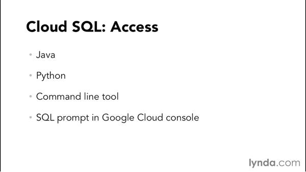 Understanding Google Cloud SQL: Google Cloud Storage and Data Essential Training