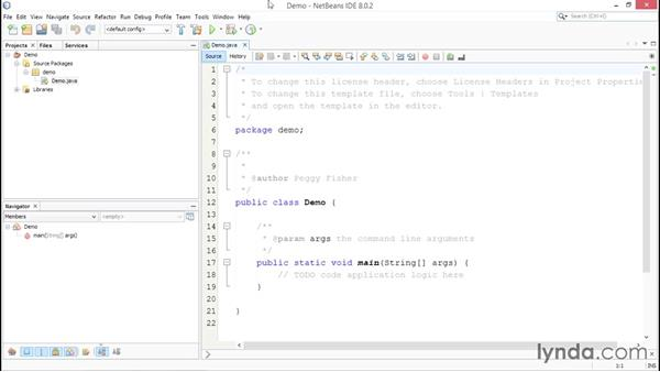 Exploring the IDE: Up and Running with Java