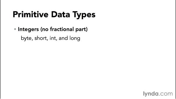 Understanding data types: Up and Running with Java