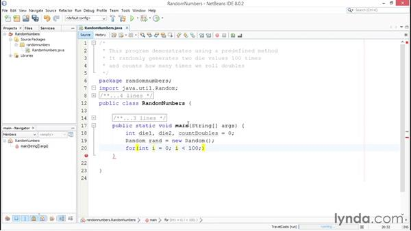 Using predefined functions: Up and Running with Java