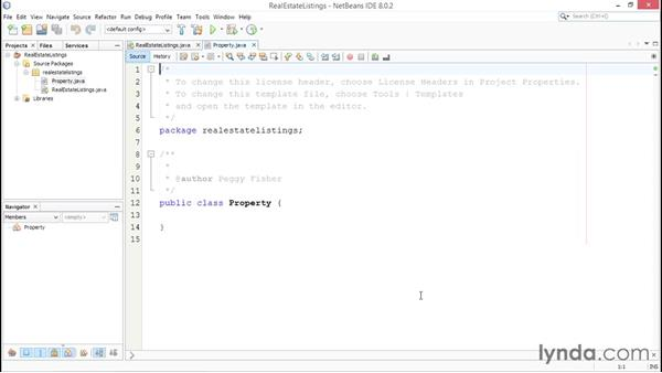 Creating classes: Up and Running with Java
