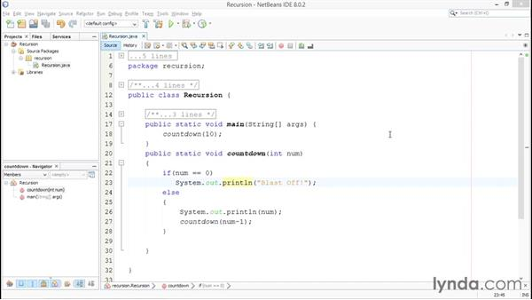Introducing recursion: Up and Running with Java