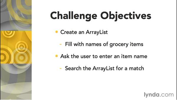Challenge: Groceries: Up and Running with Java