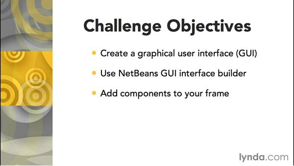 Challenge: GUI: Up and Running with Java