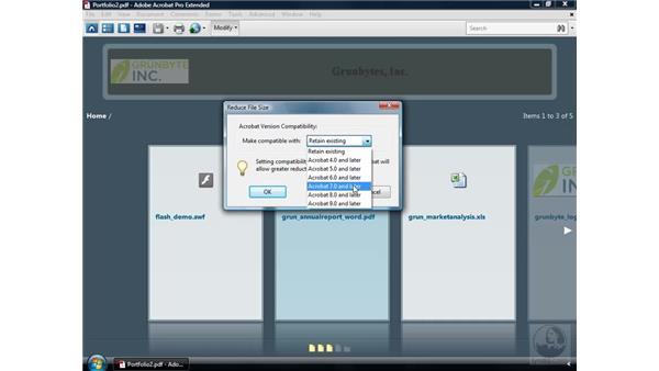 Running commands on a PDF Portfolio: Acrobat 9 Pro Essential Training