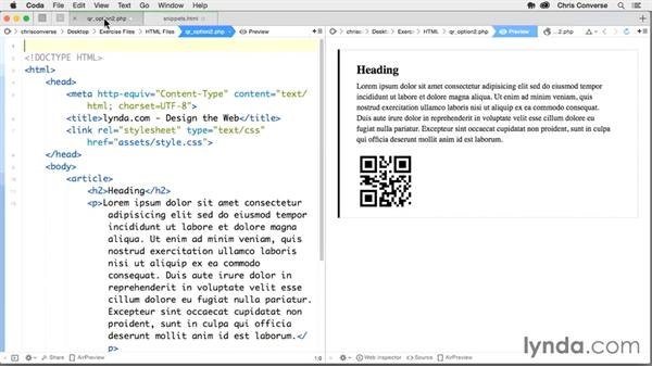 Combining PHP (server-side languages) with Google Chart API: Design the Web: Adding Dynamic QR Codes