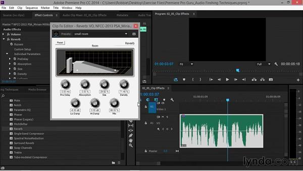 Adding clip effects: Premiere Pro Guru: Audio Finishing Techniques