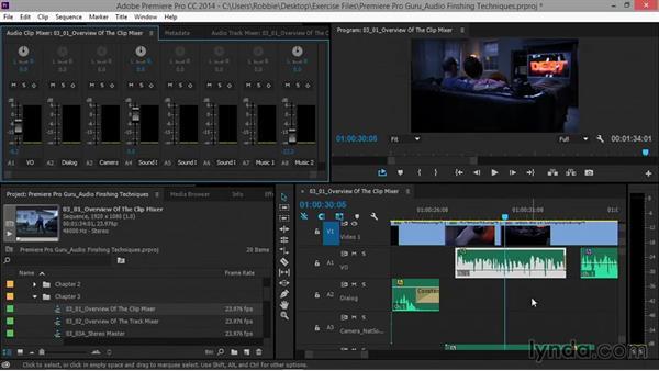 Overview of the Audio Clip Mixer: Premiere Pro Guru: Audio Finishing Techniques