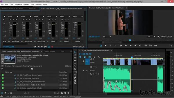 Automation modes in the mixers: Premiere Pro Guru: Audio Finishing Techniques