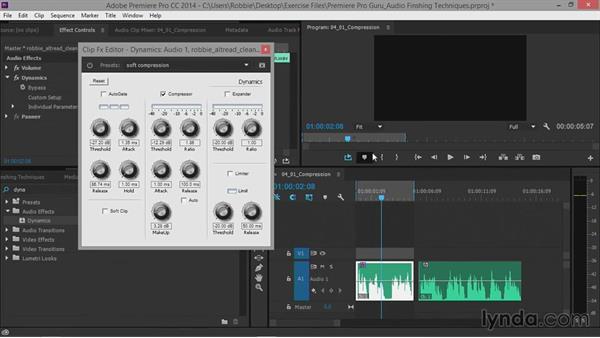 Compression: Premiere Pro Guru: Audio Finishing Techniques