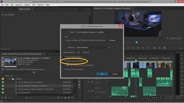 Sending a sequence to Adobe Audition: Premiere Pro Guru: Audio Finishing Techniques