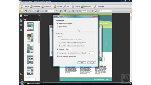 Splitting PDFs: Acrobat 9 Pro Essential Training