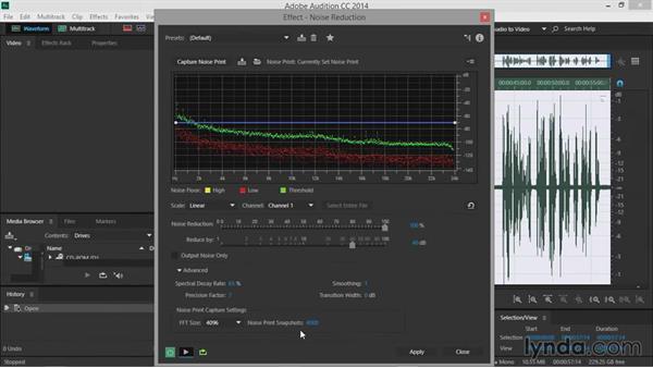 Noise reduction: Premiere Pro Guru: Audio Finishing Techniques