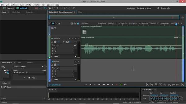 Speed changes: Premiere Pro Guru: Audio Finishing Techniques