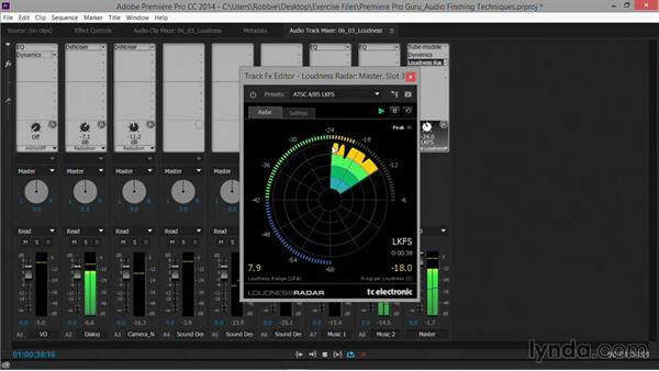 Loudness monitoring: Premiere Pro Guru: Audio Finishing Techniques