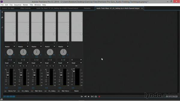 Setting up a multichannel output using stems: Premiere Pro Guru: Audio Finishing Techniques