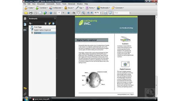 Nesting bookmarks: Acrobat 9 Pro Essential Training