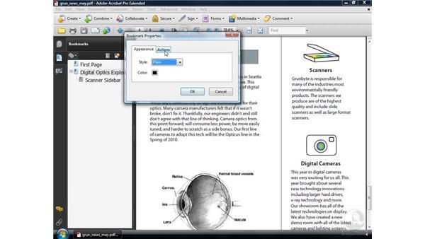 Editing bookmark destinations: Acrobat 9 Pro Essential Training