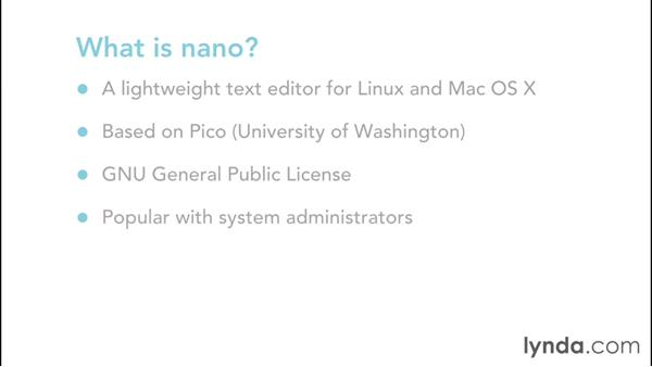 What is nano?: Up and Running with nano
