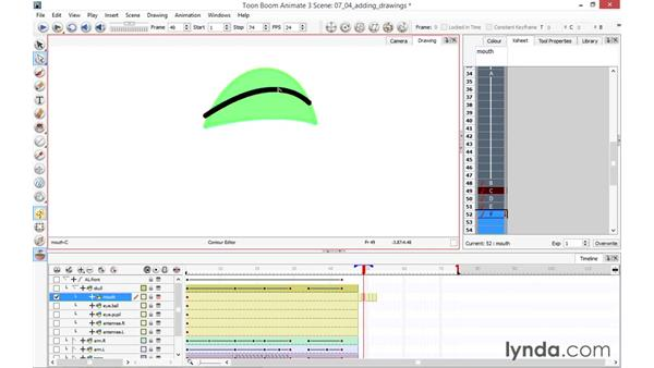 Adding a drawing: Toon Boom Animate and Harmony Essential Training