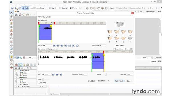 Importing and editing sound: Toon Boom Animate and Harmony Essential Training