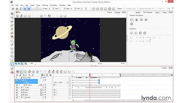 Adding effects: Toon Boom Animate and Harmony Essential Training