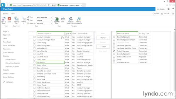 Creating resource assignments: Microsoft Project Web Application 2013