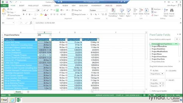 Using Business Intelligence: Microsoft Project Web Application 2013