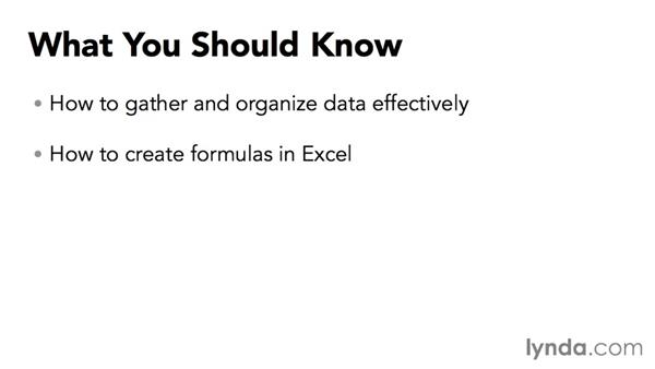 What you should know: Data-Analysis Fundamentals with Excel