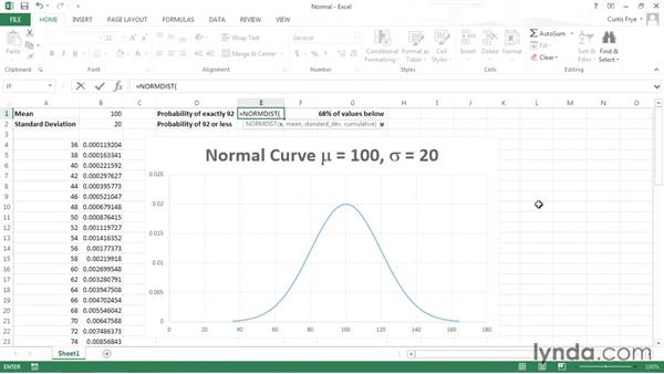 Using the normal distribution: Data-Analysis Fundamentals with Excel