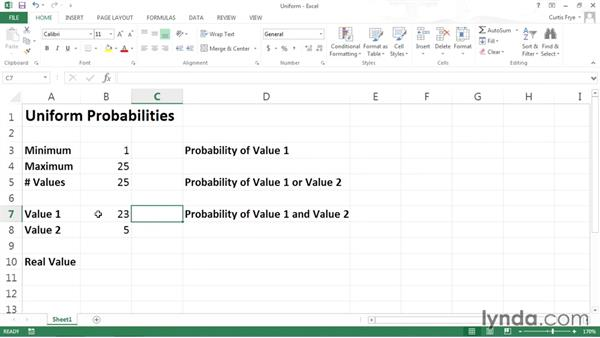 Using a uniform distribution: Data-Analysis Fundamentals with Excel