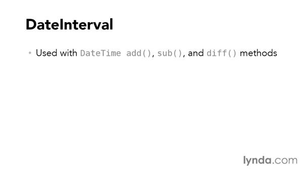 Introducing the DateInterval and DatePeriod classes: PHP Date and Time Essential Training