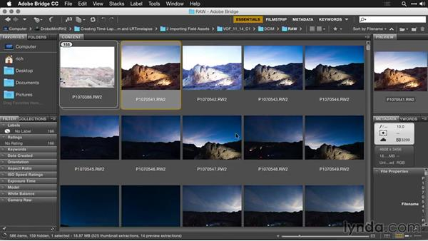 Splitting images by scenes: Creating Time-Lapse Movies with Lightroom and LRTimelapse