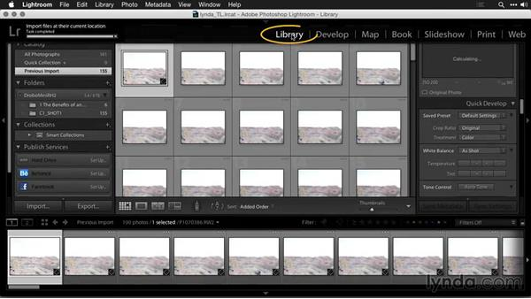 Importing images into Lightroom: Creating Time-Lapse Movies with Lightroom and LRTimelapse