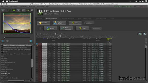 Creating keyframes for a sequence: Creating Time-Lapse Movies with Lightroom and LRTimelapse
