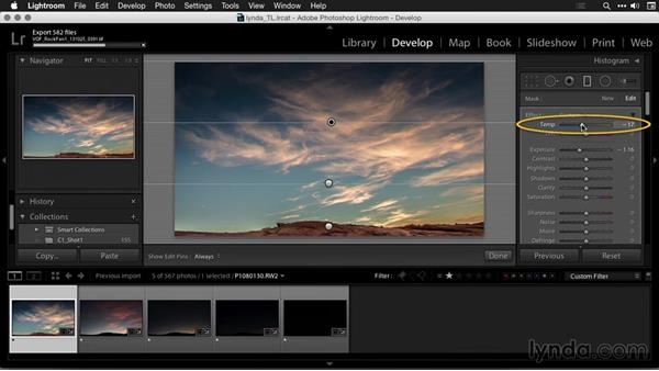 Adjusting key images in Lightroom: Creating Time-Lapse Movies with Lightroom and LRTimelapse