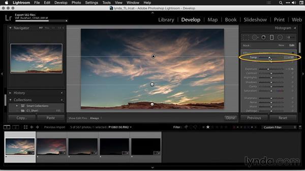 Adjusting key images in Lightroom: Creating Time-Lapse Movies with Lightroom and LRTimelapse