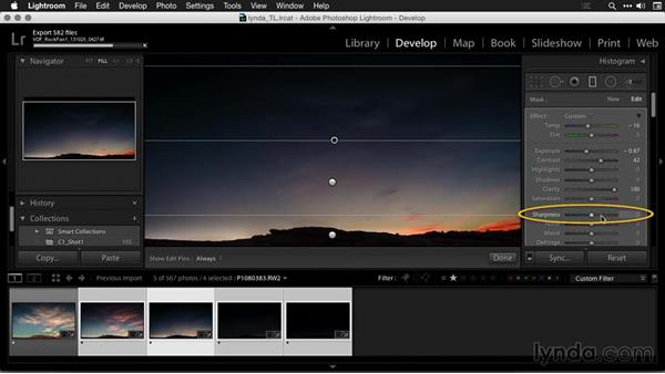 Synchronizing key images in Lightroom: Creating Time-Lapse Movies with Lightroom and LRTimelapse