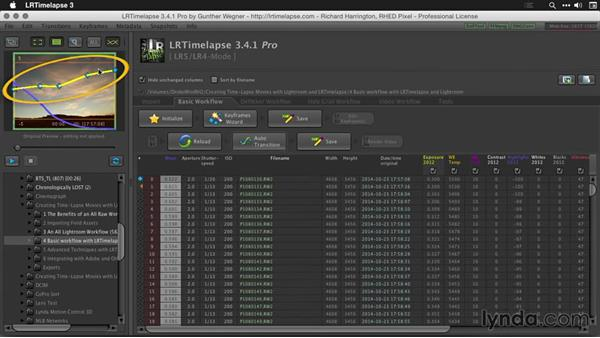 Reloading the sequence in LRTimelapse: Creating Time-Lapse Movies with Lightroom and LRTimelapse