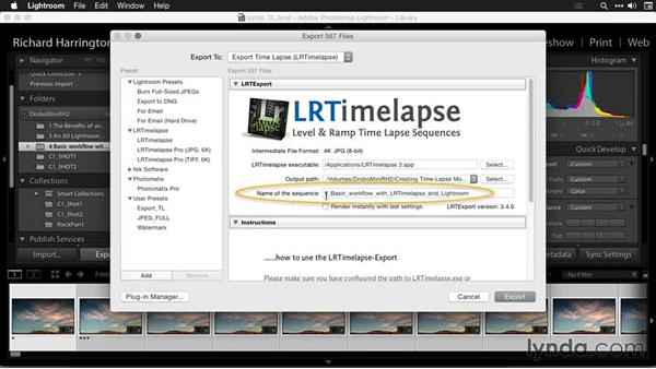 Exporting from Lightroom: Creating Time-Lapse Movies with Lightroom and LRTimelapse