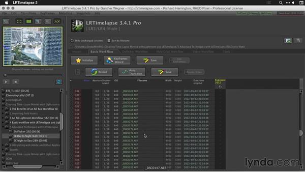 Processing a day-to-night time-lapse sequence in LRTimelapse: Creating Time-Lapse Movies with Lightroom and LRTimelapse