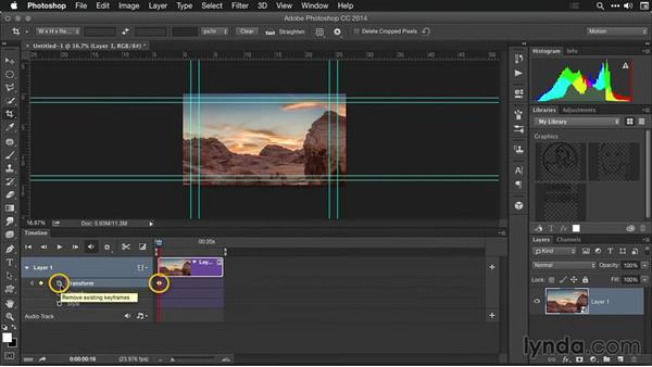 Cropping and resizing shots in Photoshop: Creating Time-Lapse Movies with Lightroom and LRTimelapse