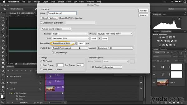 Exporting in Photoshop: Creating Time-Lapse Movies with Lightroom and LRTimelapse
